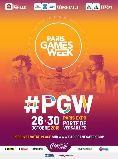 Affiche officielle Paris Games Week 2018