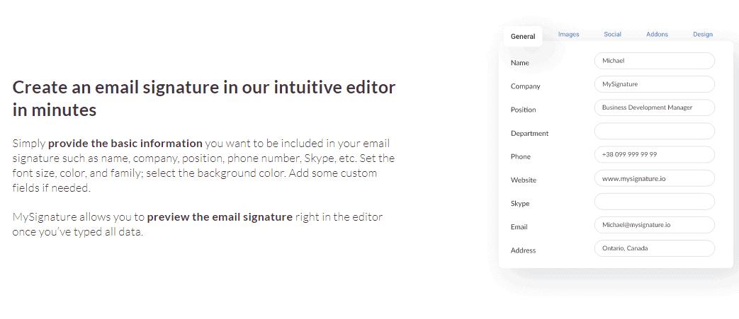 Signature mail MySignature