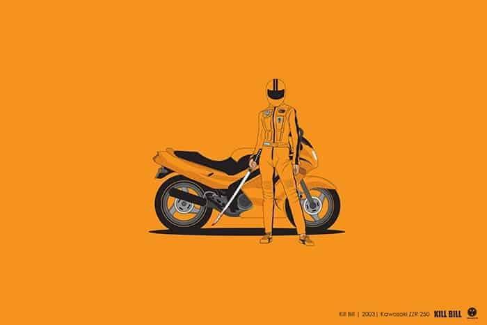 Voitures cultes - Moto de Kill Bill