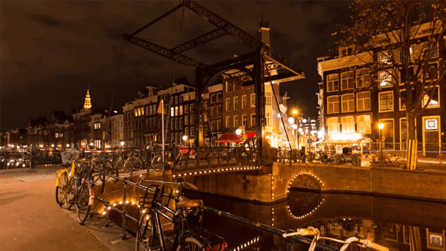 Amsterdam en time lapse