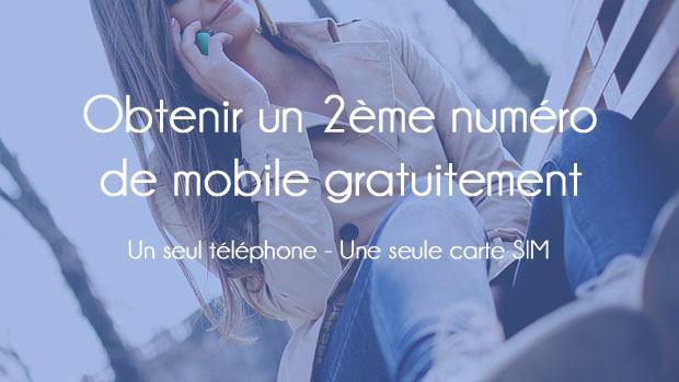 Obtenir un deuxième numéro gratuitement sur iPhone ou Android