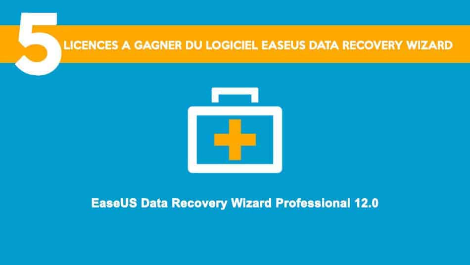 5 licences EaseUS Data Recovery Wizard Pro à gagner