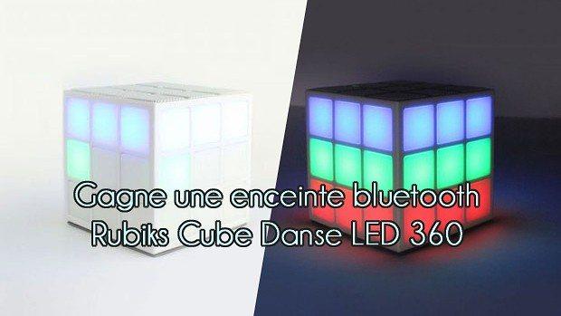 Gagne une enceinte bluetooth Rubiks Cube Danse LED 360 Lightshow