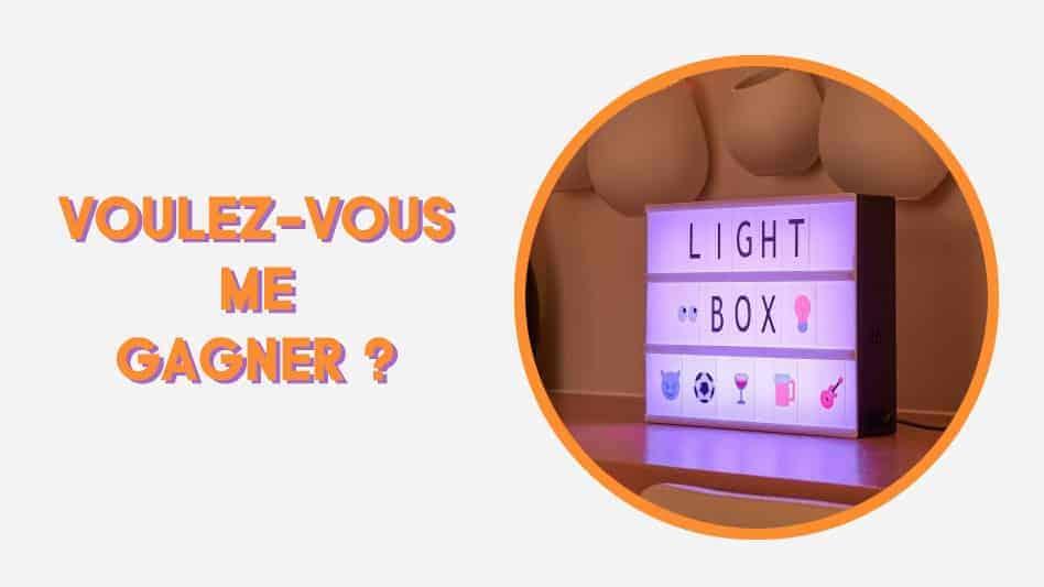 Jeu concours - Gagnez un panneau LED