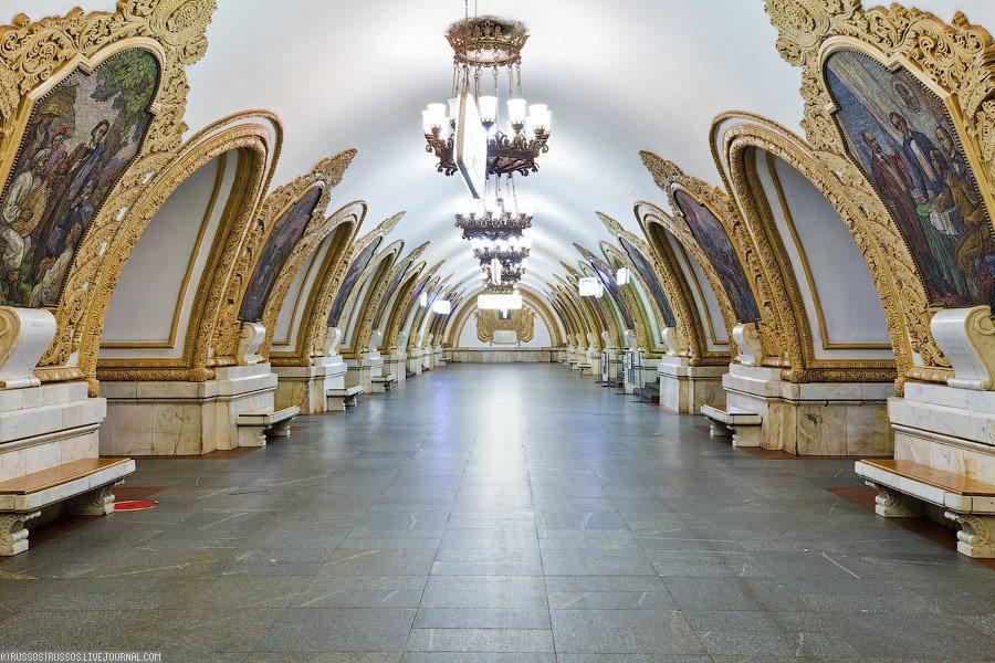 12 magnifiques stations du métro de Moscou en photo