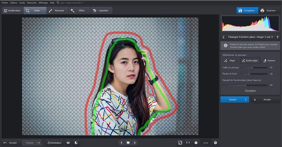 PhotoWorks - Changer l'arrière-plan