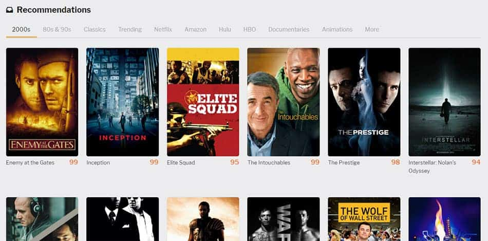 Taste Movies - Recommandation de films en fonction de ses goûts