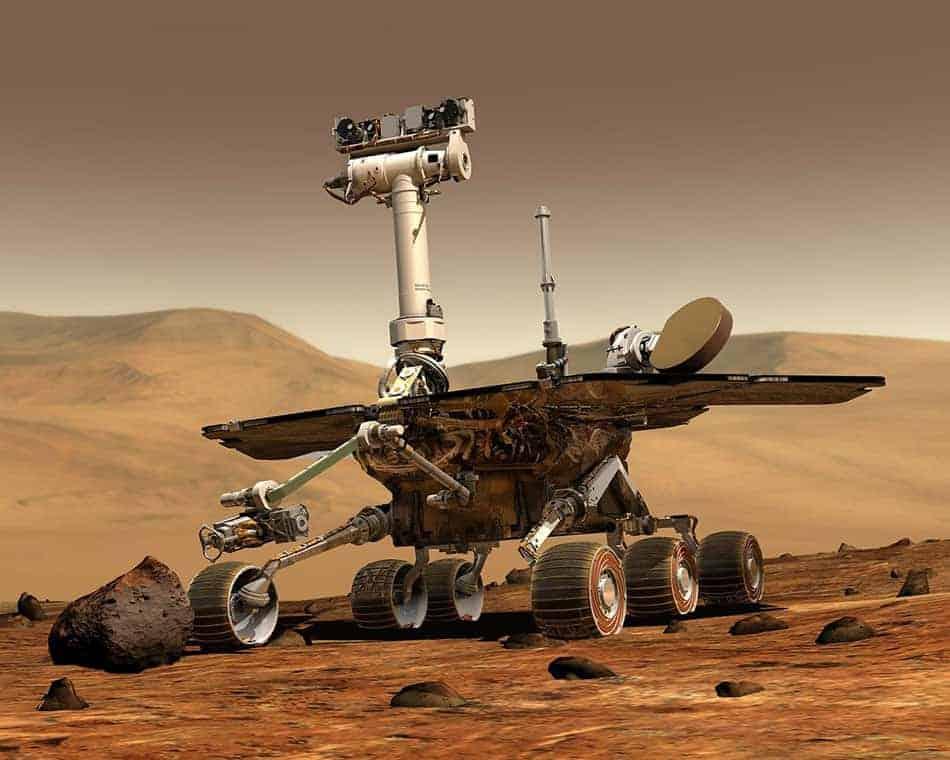 rover sur la planète Mars