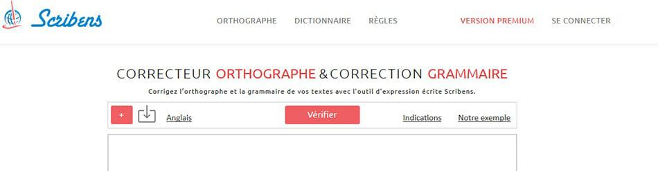 Scribens.fr - Correcteur en ligne