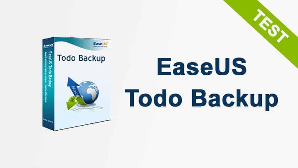 Test EaseUS TodoBackup Free