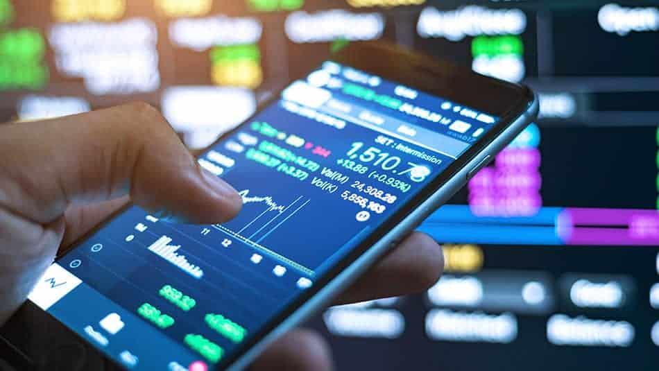 trading sur téléphone mobile