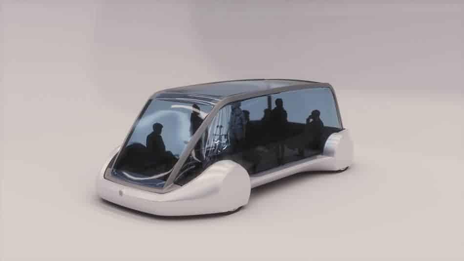 Navette électrique tunnel anti-bouchon Elon Musk