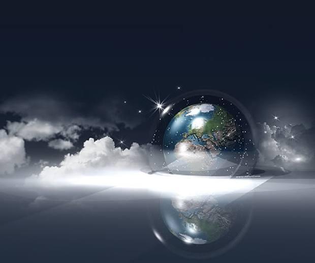 fonds d'écran de Noël - Boule de neige